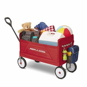 Foldable wagon with smooth tires