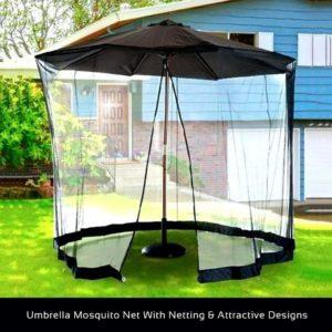 Umbrella Outdoor Table Bug Screen